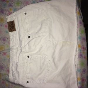 white denim mini skirt good condition